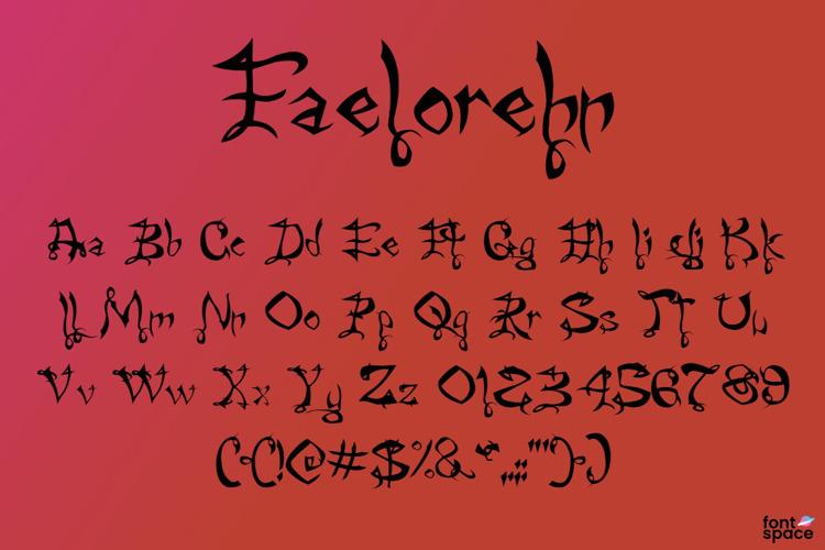 Faelorehn Font
