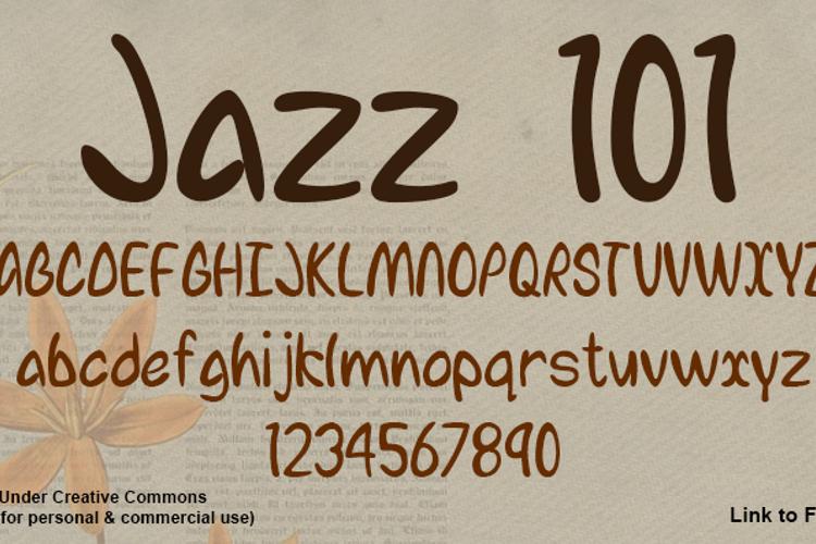 Jazz 101 Font