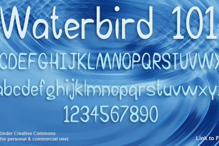 Waterbird 101 Font