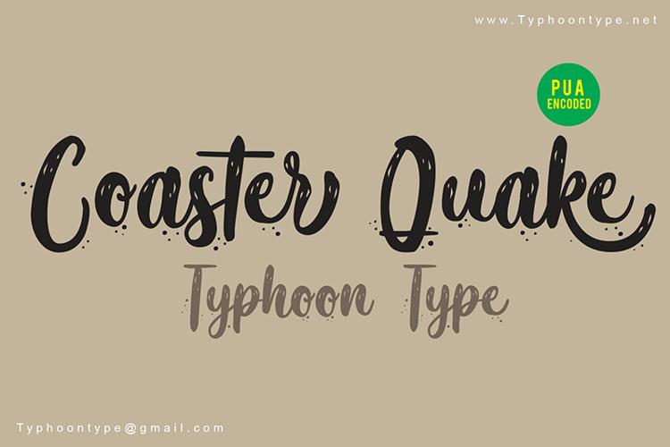 Coaster Quake (Personal Use) Font
