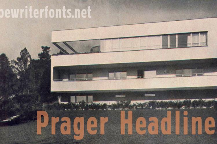 Prager Headlines Font