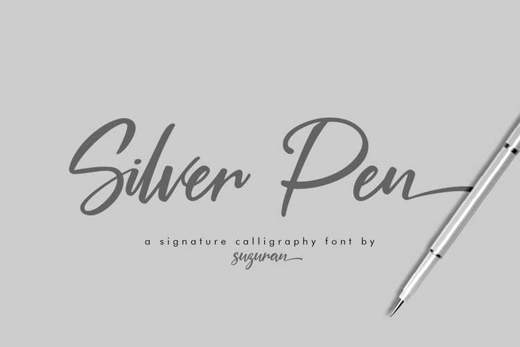 Silver Pen Font