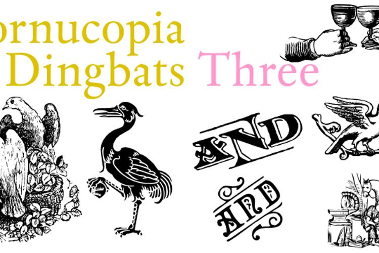 Cornucopia of Dingbats Three Font