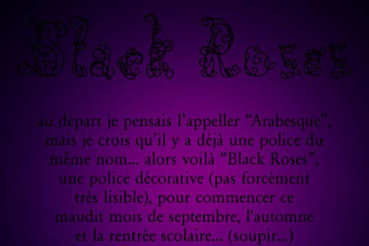 Black Roses Font