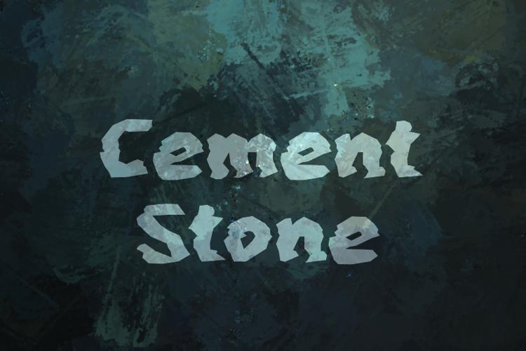 c Cement Stone Font