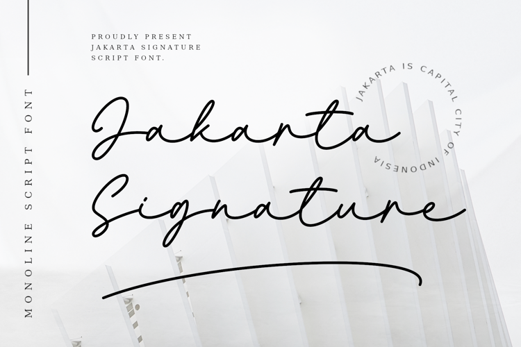 Jakarta Signature Font