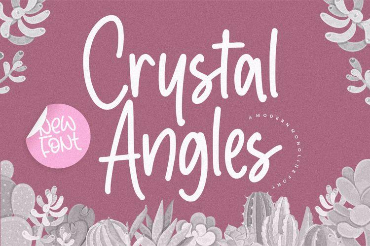 Crystal Angles Font