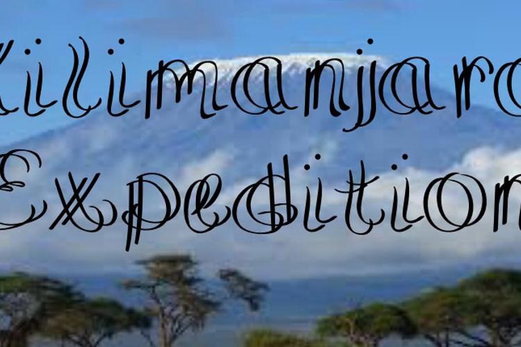 KilimanjaroExpedition Font