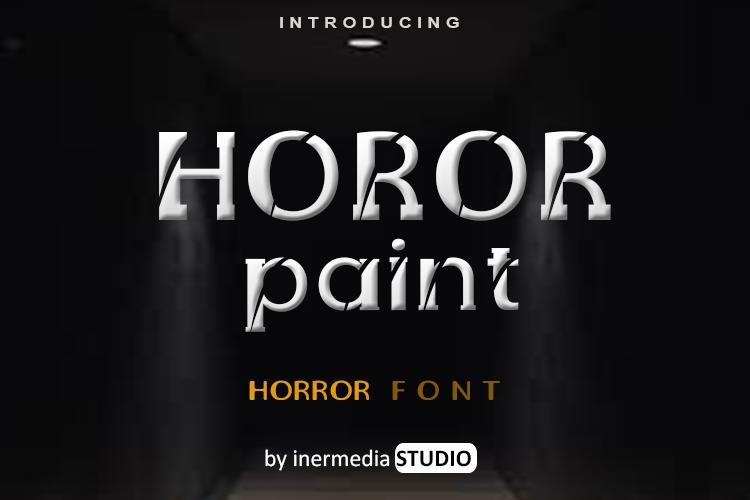 HOROR PAINT Font