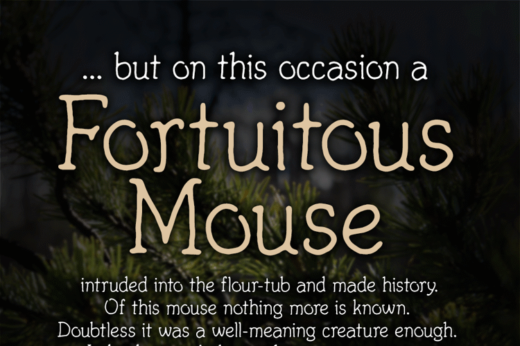 Fortuitous Mouse Font