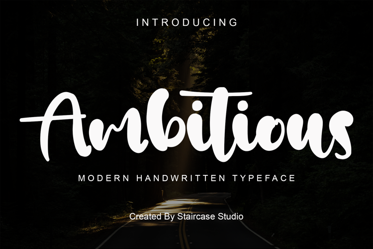 Ambitious Font