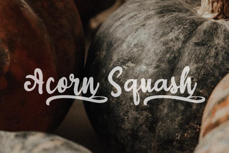 a Acorn Squash Font