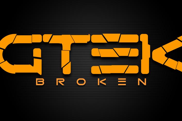 Gtek Broken Font
