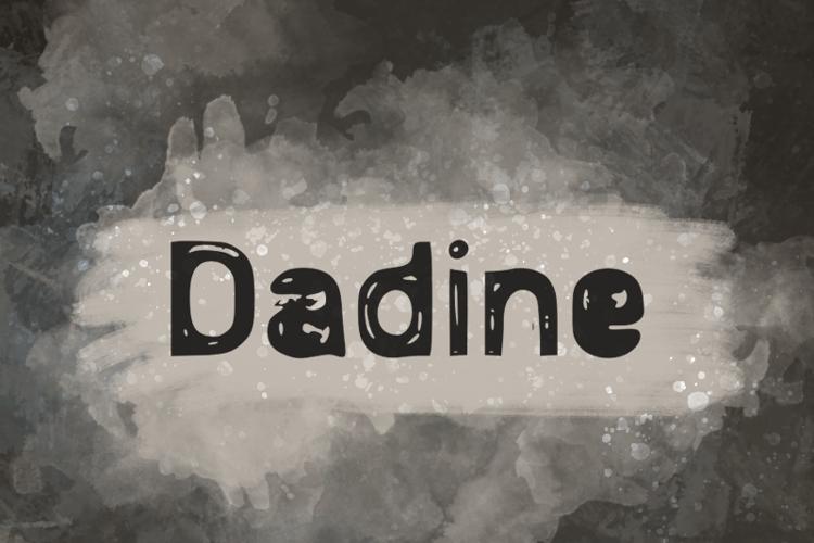 d Dadine Font