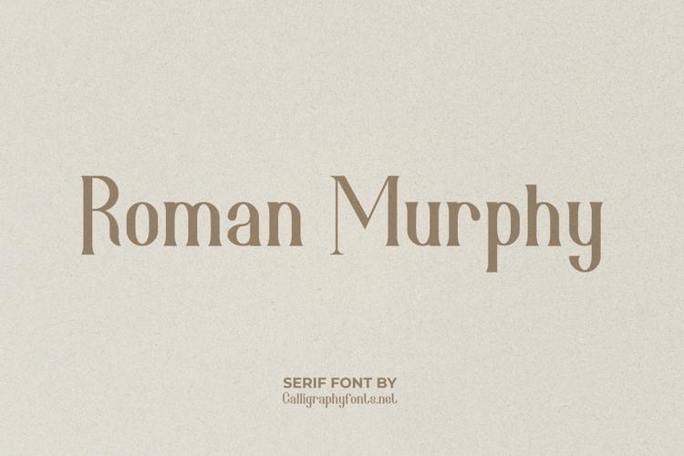 Roman Murphy Font