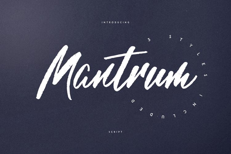 MANTRUM - URBAN SCRIPT Font