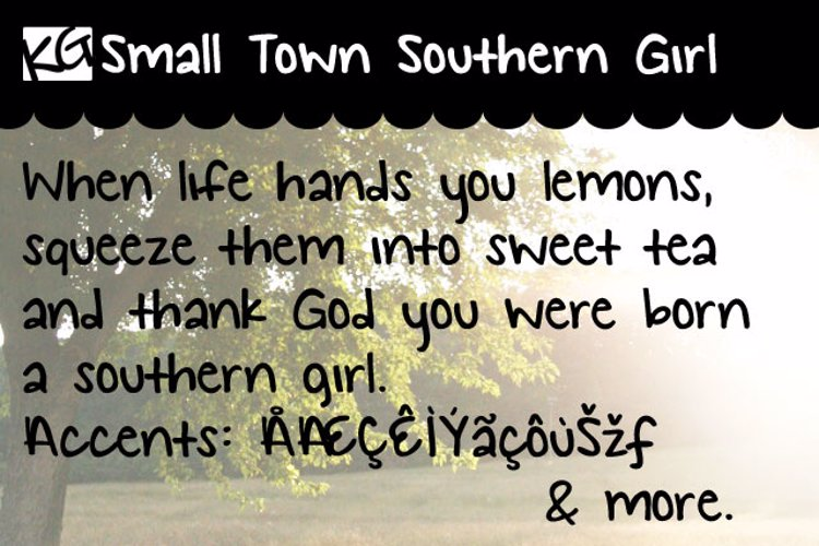 KG Small Town Southern Girl Font