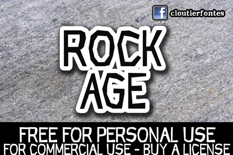 CF Rock Age Font