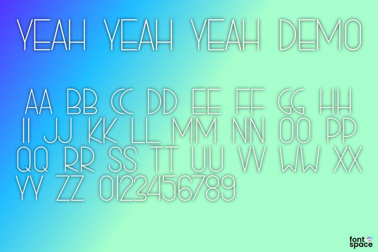 YEAH YEAH YEAH Font