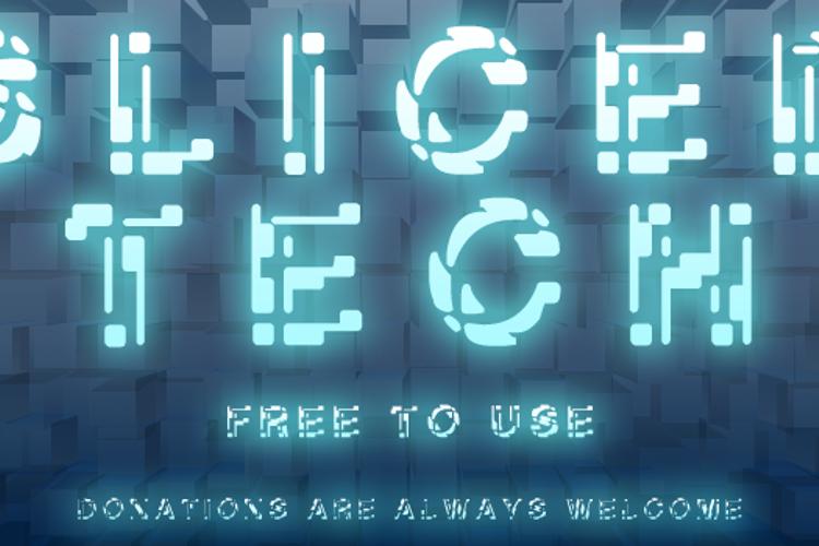 Sliced-Tech Font