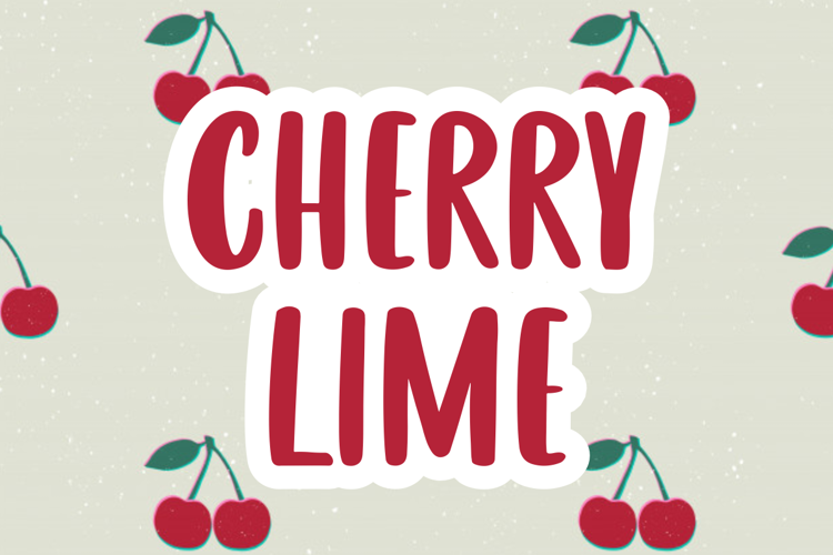 CHERRY LIME Font
