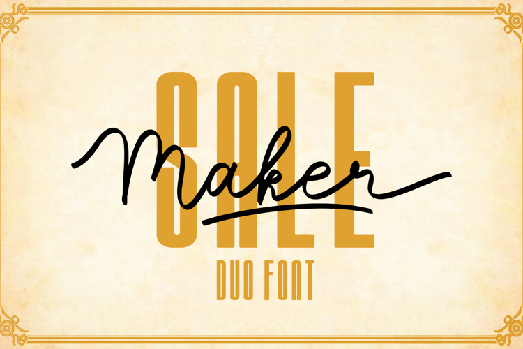 Sale Maker Font