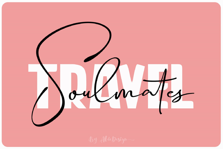 Travel Soulmates Weight Font