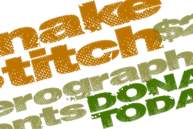 SnakeStitch Font