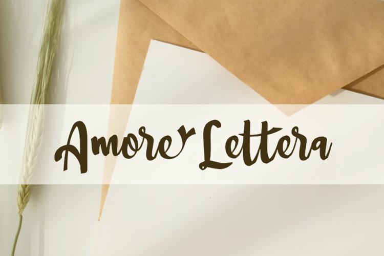 a Amore Lettera Font