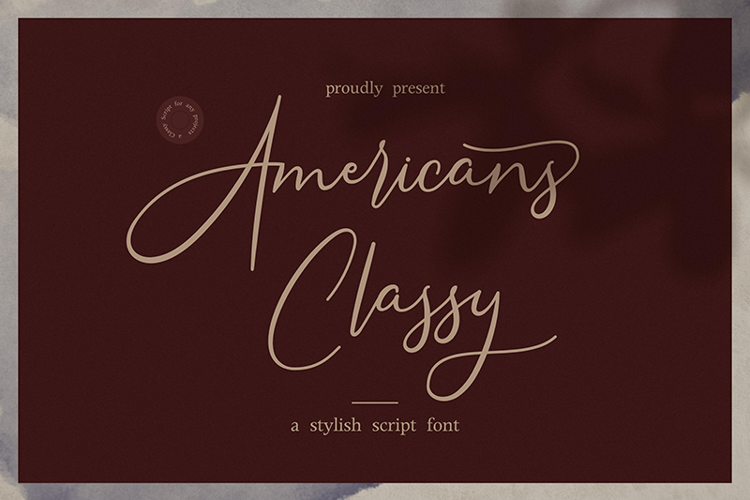 Americans Classy Font