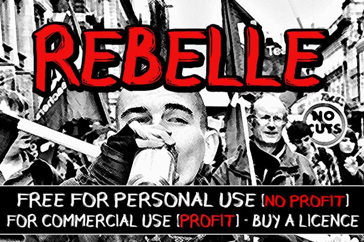 CF Rebelle Font
