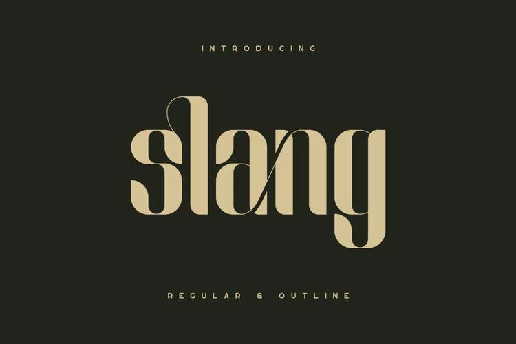 Slang - Ligature Font ( Regular and Outline )