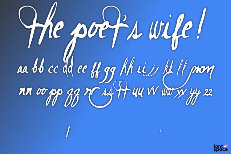 The Poet's Wife! Font
