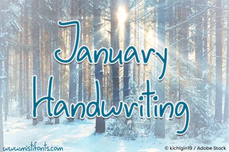 January Handwriting Font