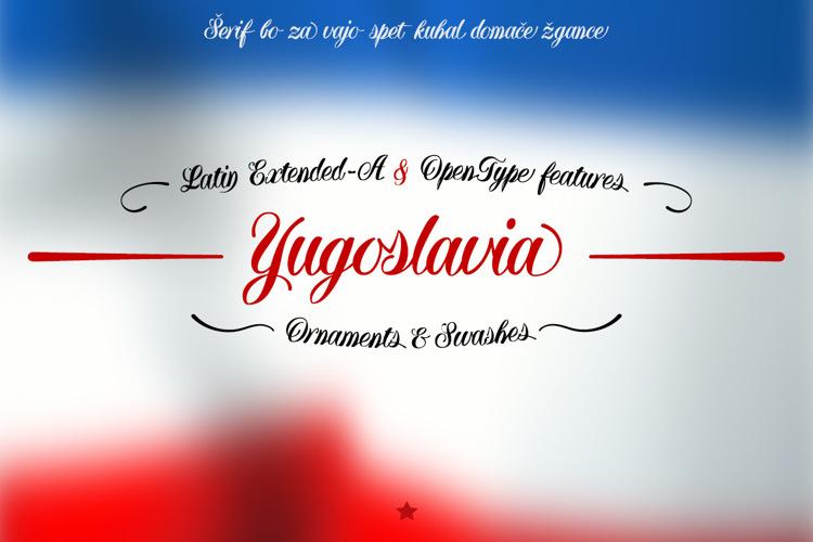 Yugoslavia Font