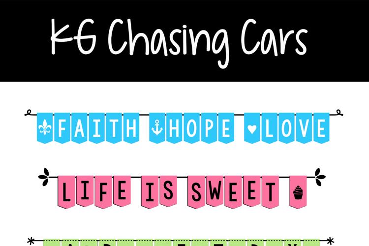 KG Chasing Cars Font