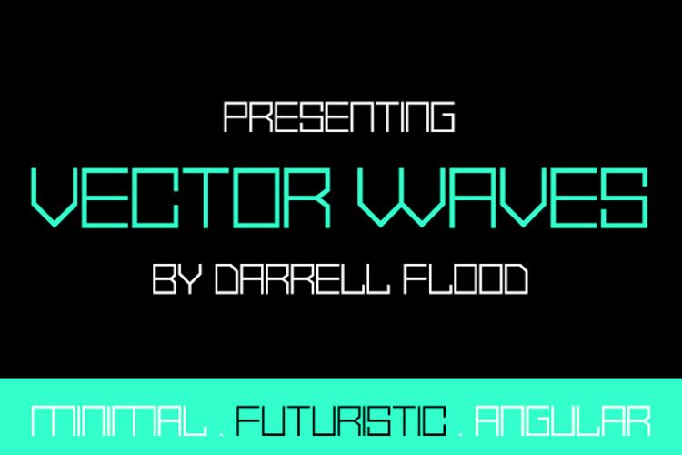 Vector Waves Font