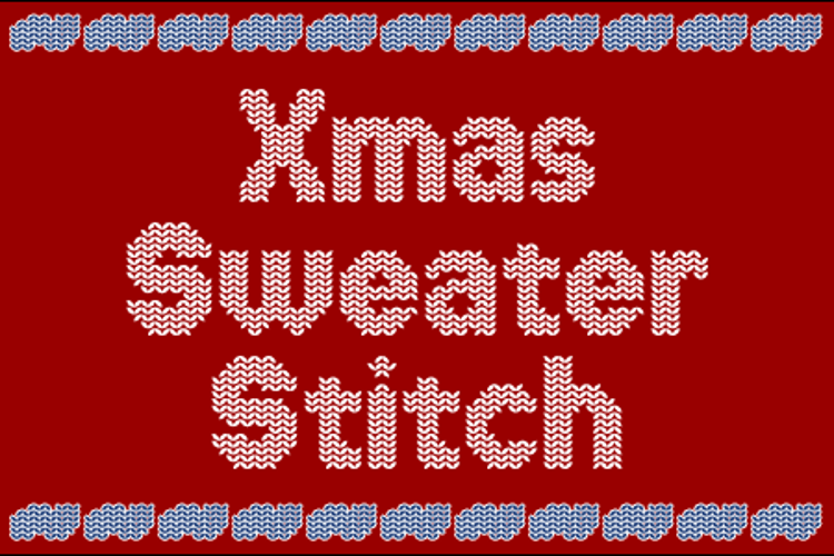 Xmas Sweater Stitch Font