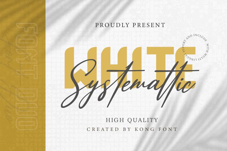 White Systemattic Font