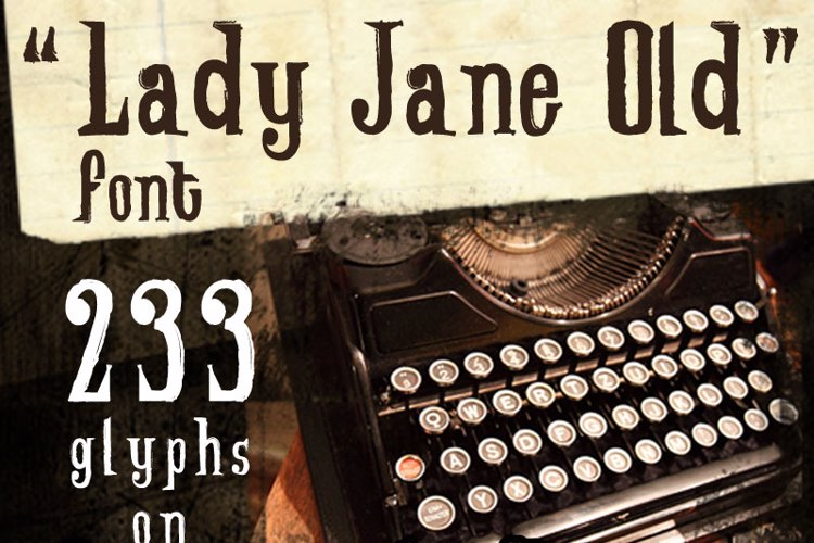Lady Jane Old Font