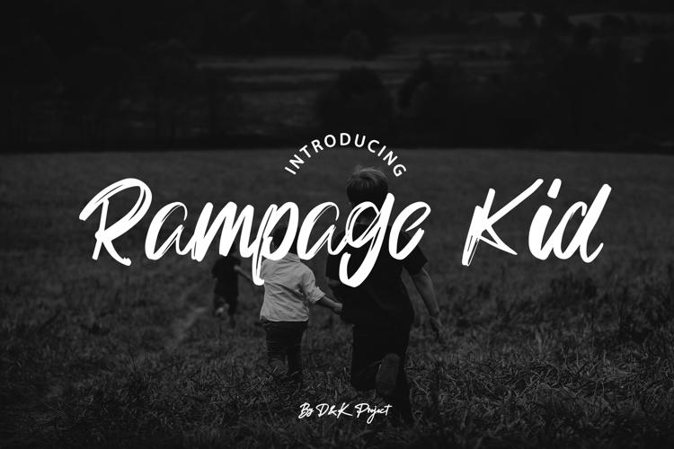 Rampage Kid Font