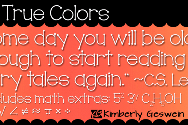 KG True Colors Font