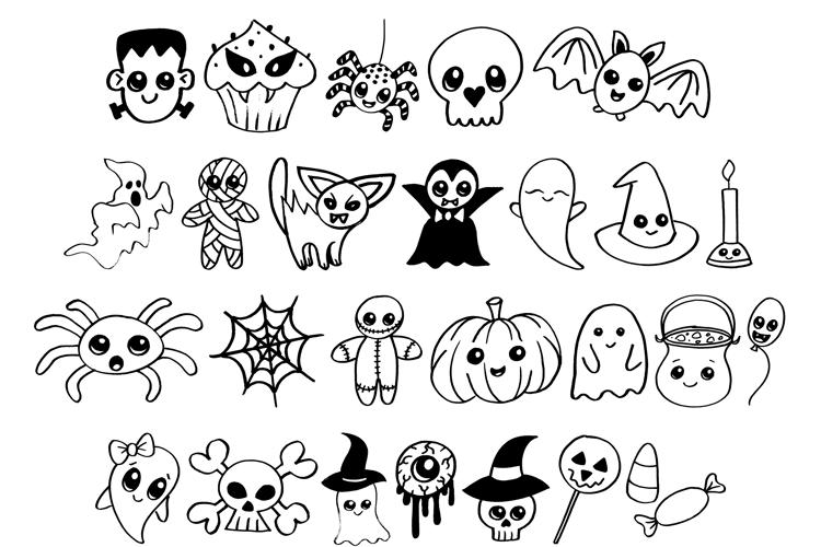 Cute Halloween Drawings Font