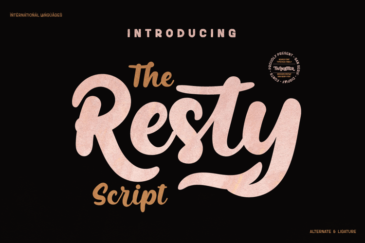 Resty Personal Font