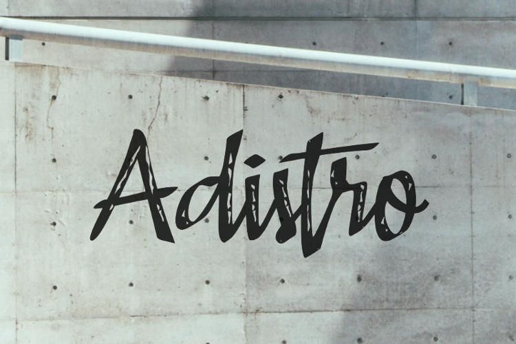 a Adistro Font