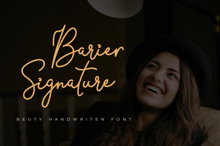 Barier Signature Font