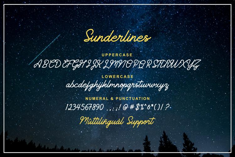 Sunderlines Font