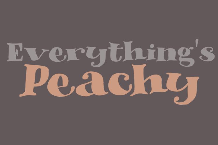 DK Phantom Peach Font
