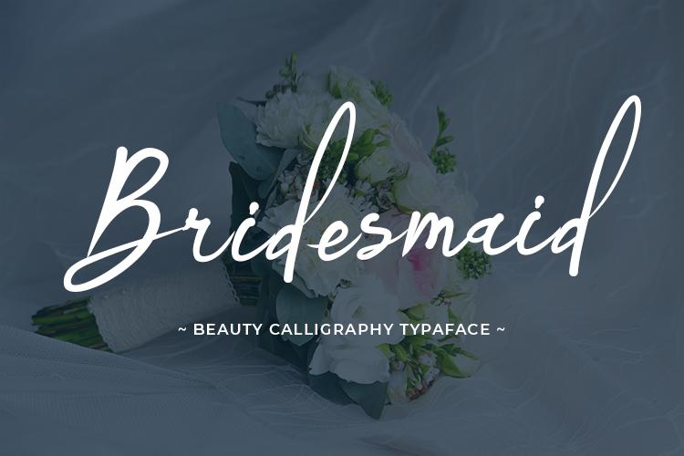 Bridesmaid Font