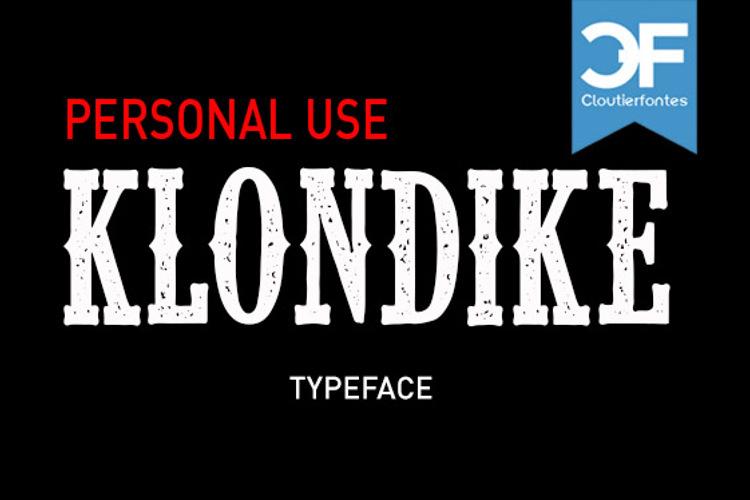 CF Klondike Font